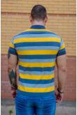 Nagyon puha csíkos galléros póló