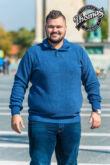 Állógalléros férfi pulóver