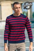 Anton - csíkos férfi pulóver