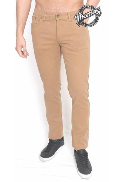 Mustár színű mikro-kord nadrág