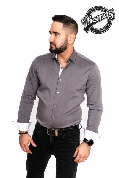 Egy színű ing szürke