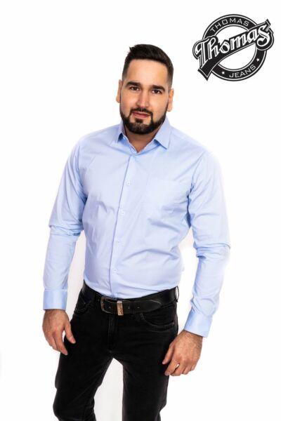Egy színű ing világos kék