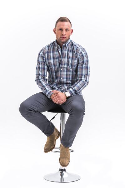 Kék kockás ing