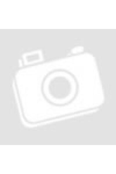 Piros-fehér-fekete csíkos galléros póló