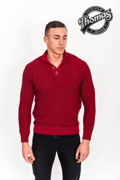 Állógallléros férfi pulóver