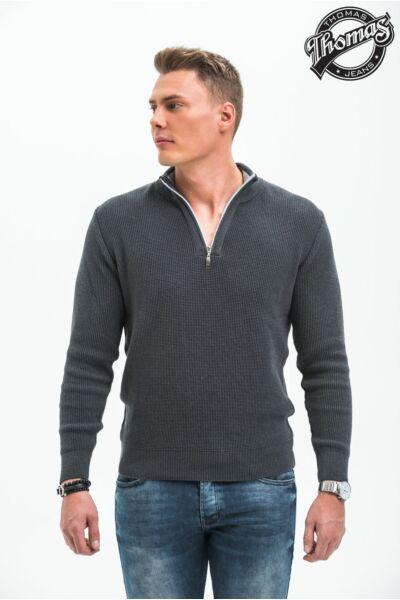 Thomas Jeans kötött, cipzáros pulóver.