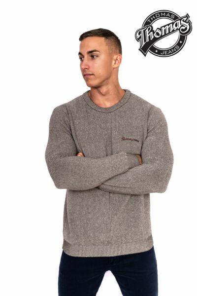 Kereknyakú férfi pulóver
