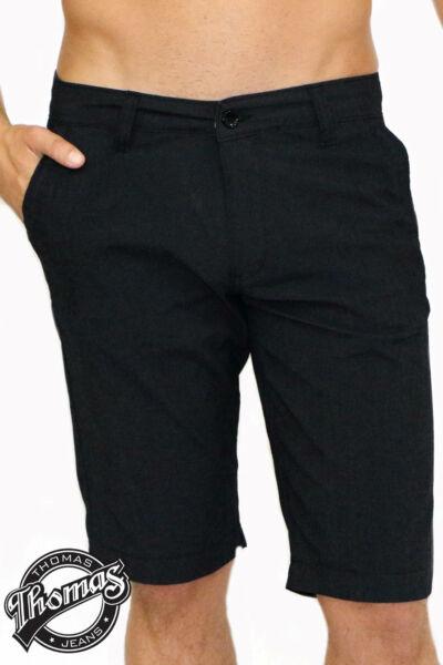 Elegáns CHINO fazonú bermuda, fekete kis csíkos mintával