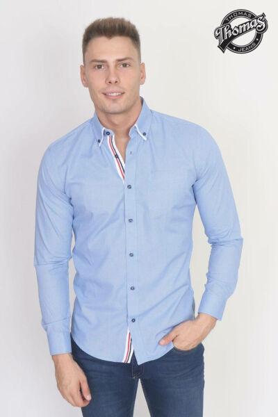 Kék apró mintás hosszúujjú Thomas ing