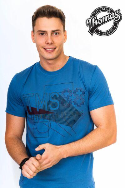 Kék környakas férfi póló
