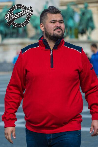 Piros férfi pulóver Thomas Jeans
