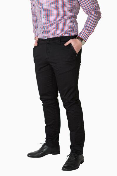CHINO fekete nadrág