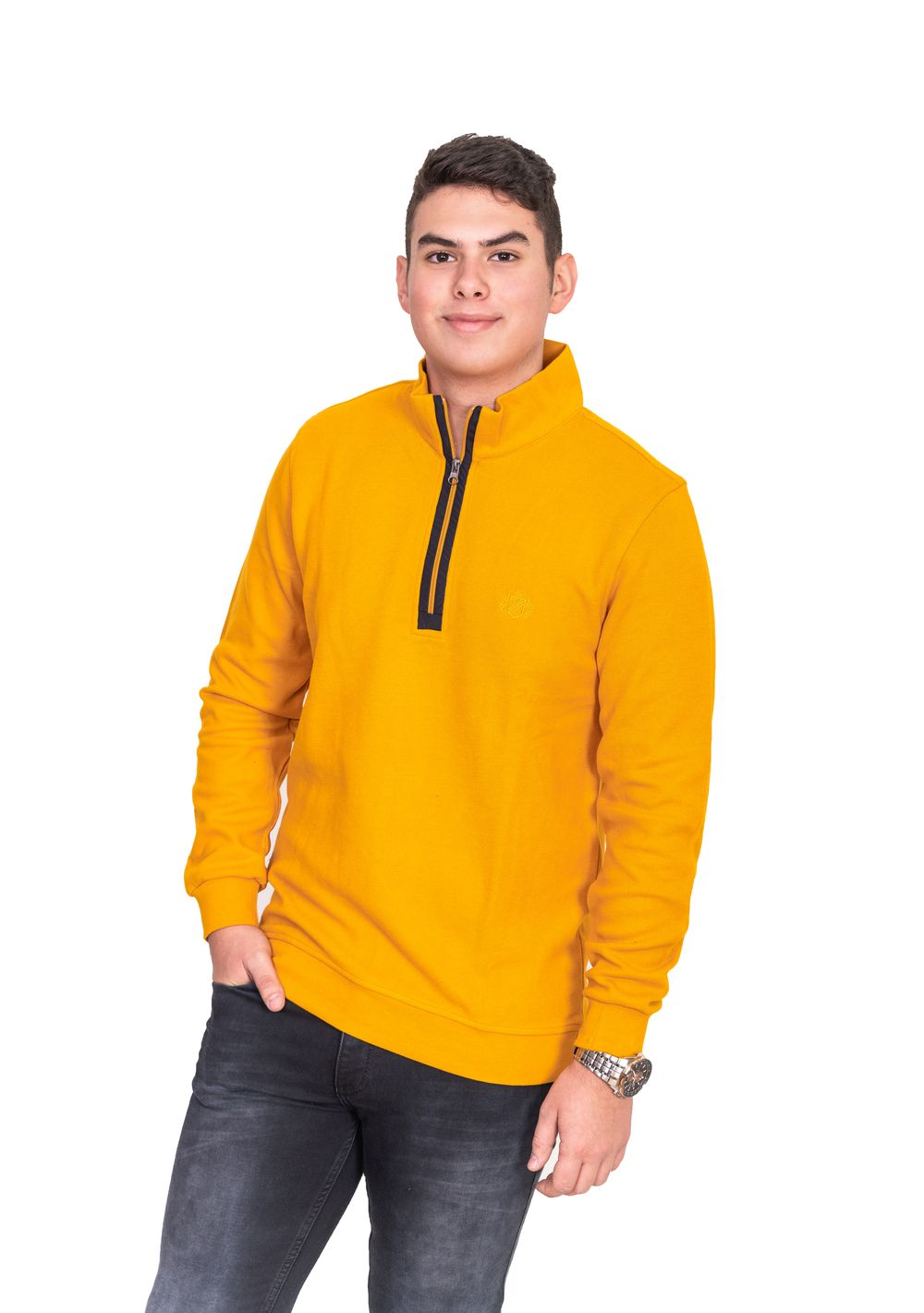 Thomas Jeans mustár színű pulóver. 78595bb3d5